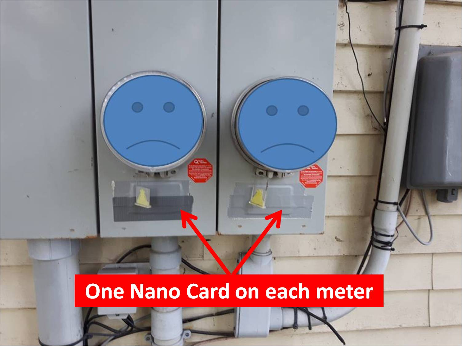 Nano card on smart meter